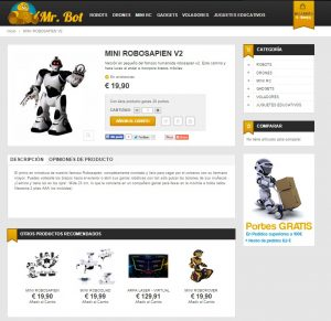 Mr Bot Tienda Online de juguetes tecnológicos
